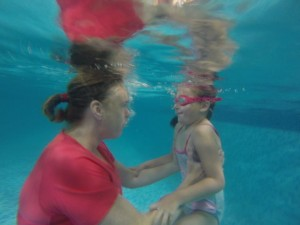 building up confidence underwater with Bean